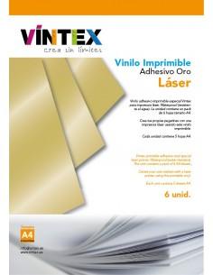 Vinilo Adhesivo Imprimible Oro para impresora láser VINTEX