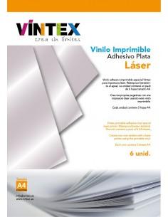 Vinilo Adhesivo Imprimible Plata - Impresora Láser