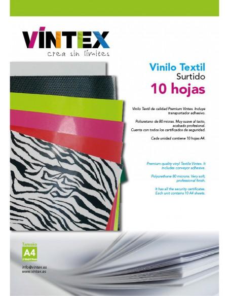 Vinilo Textil - Surtido 10 hojas A4