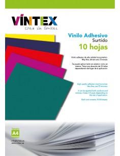Vinilo Adhesivo - Surtido 10 hojas A4 VINTEX