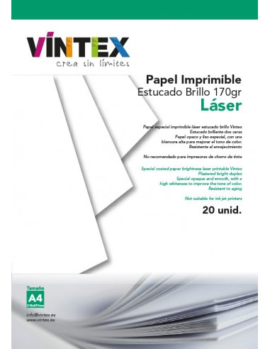 Papel Estucado Imprimible Blanco Brillo - Impresora Láser