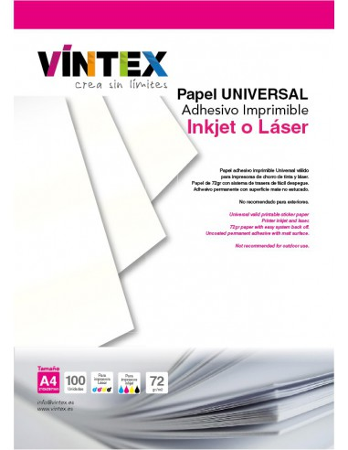 Papel Adhesivo Imprimible Universal