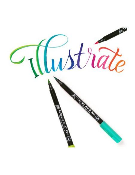 Koi - Rotulador de pincel flexible 12 colores