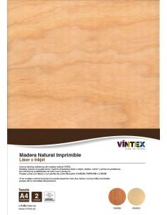 Madera Imprimible adhesiva A4 VINTEX