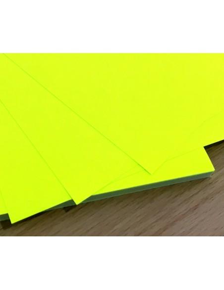 Papel Adhesivo Imprimible Amarillo Fluor