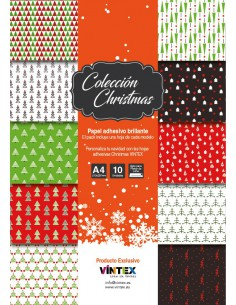 Papel Adhesivo imprimible Christmas Collection VINTEX