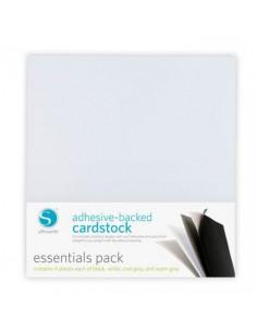 Cartulina adhesiva en blanco y negro Pack Esencial de Silhouette