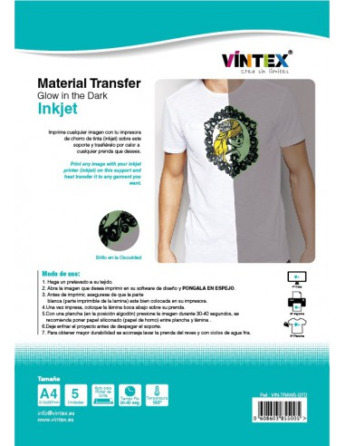 "Transfer ""Glow in the dark"" Inkjet"