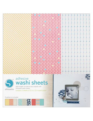 Hojas Adhesivas Washi Sheets Pack 9 diseños Silhouette