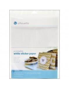 Etiquetas para imprimir en color blanco Silhouette