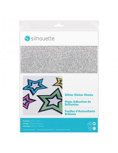 Hojas Adhesivas imprimibles con Purpurina Silhouette
