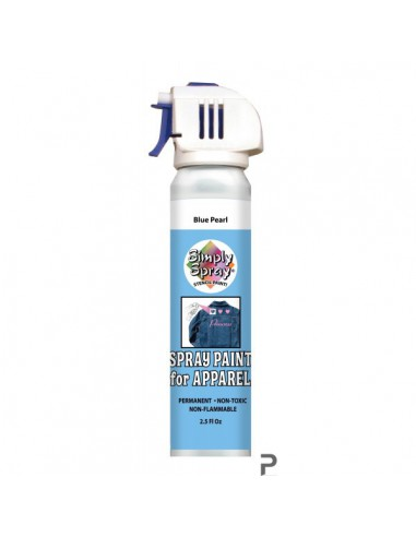 Simply Spray Stencil Paint Blue Pearl