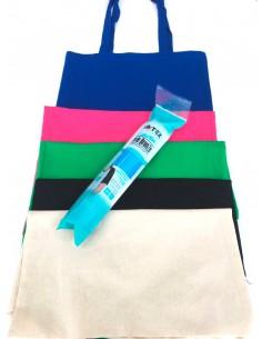 Pack 5 Bolsas de tela + 1 Vinilo textil Serie Bronze a elegir