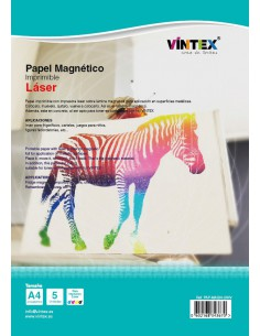Papel magnético imprimible Láser A4 VINTEX