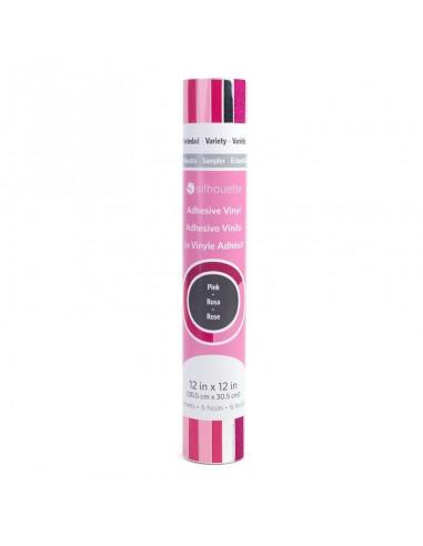 Vinyl Sampler Pack Pink (Rosa) adhesivo Silhouette