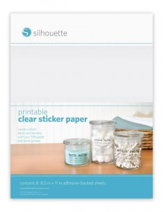 Papel Imprimible transparente adhesivo Silhouette