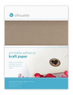 Papel Kraft Adhesivo Imprimible Silhouette