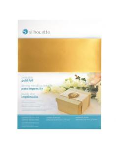 Láminas de foil imprimibles Oro Silhouette