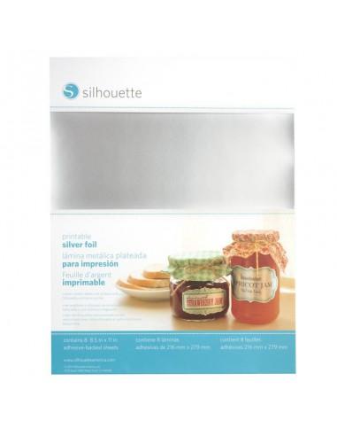 Etiquetas Plata Imprimibles