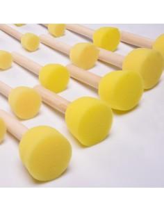Pack 3 Pinceles Talens de punta plana (foam)