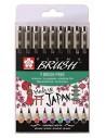 Pigma (Sakura) Brush - 9 Colores