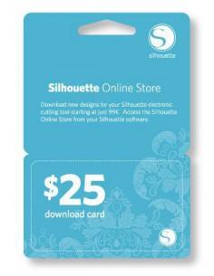 Tarjeta para descarga de diseños $25 Silhouette