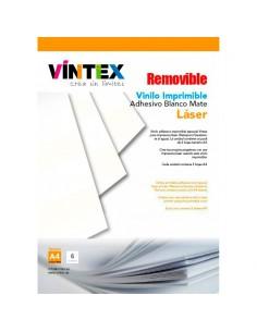 Vinilo Adhesivo Imprimible Blanco Mate removible para Impresora Láser VINTEX