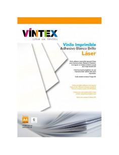 Vinilo Adhesivo Imprimible Blanco Brillo - Impresora Láser