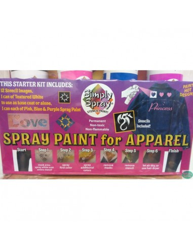 Fabric Spray Fashion Kit con plantillas