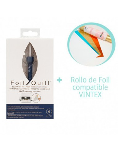 PREVENTA-Foil Quill Bold Tip We R Memory Keepers + Rollo Foil VINTEX