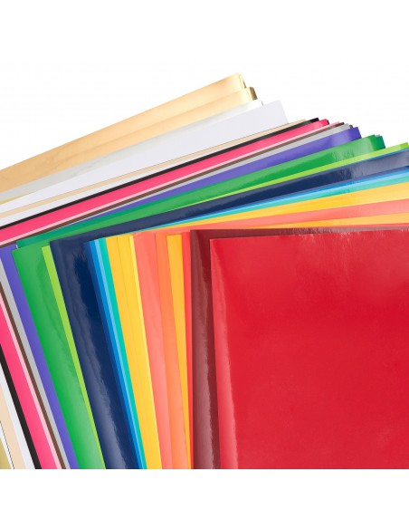 Pack 40 hojas vinilo adhesivo permanente American Crafts