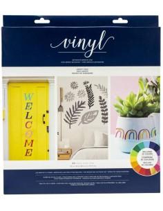 Pack 40 hojas de vinilo adhesivo colores sólidos American Crafts