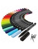 Koi Rotulador de pincel flexible 24 colores
