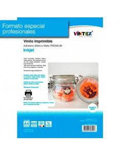 Pack 500 hojas Vinilo Adhesivo Imprimible Blanco Mate Inkjet VINTEX (formato profesional)