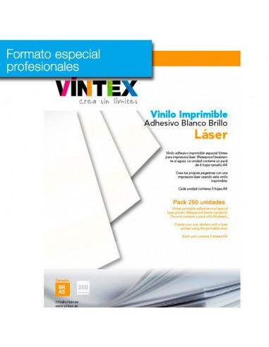 Vinilo Adhesivo Imprimible Blanco Brillo láser (formato profesional)