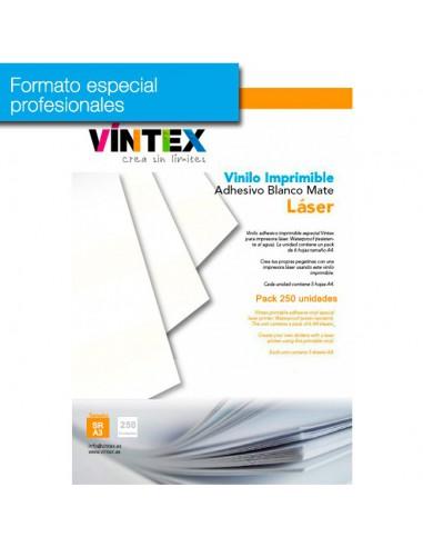 Vinilo Adhesivo Imprimible Blanco Mate láser (formato profesional)