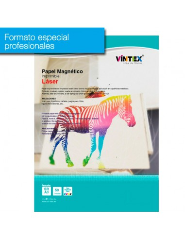 Pack 50 hojas Papel magnético imprimible láser (formato profesional)