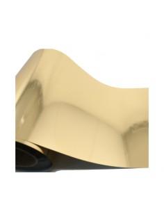 Bobina vinilo textil metalizado oro 25x50 cm
