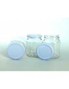 Pack 10 tarros de plástico con tapa metálica VINTEX