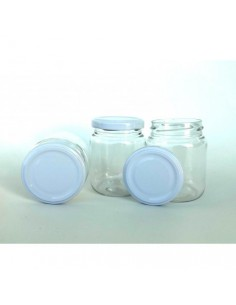 Pack 10 tarros de cristal con tapa metálica VINTEX