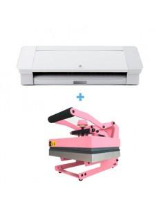 Pack Silhouette Cameo 4 blanca + Prensa térmica Evita Pink