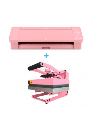 Pack Silhouette Cameo 4 rosa + Prensa térmica Evita Pink