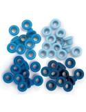 Pack 60 ojales estándar metálicos azul We R Memory Keepers