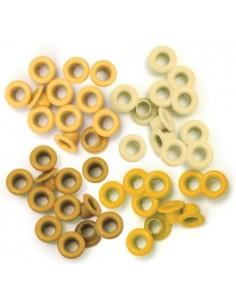 Pack 60 ojales estándar metálicos amarillo We R Memory Keepers