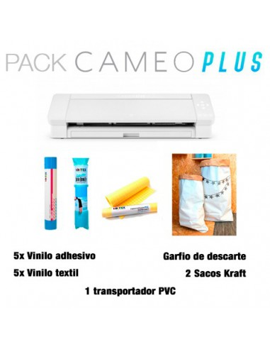 PACK PLUS: Silhouette Cameo 4 Plus + lote materiales 87€