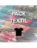 Pack Textil: 7 Vinilo textiles Serie Bronze +3  Estampados Serie Bronze + Regla VINTEX