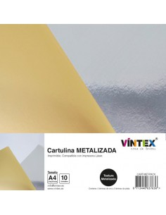 Pack 10 cartulinas imprimibles metalizadas VINTEX