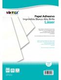 Papel Adhesivo Imprimible Blanco Alto Brillo - Impresora Láser