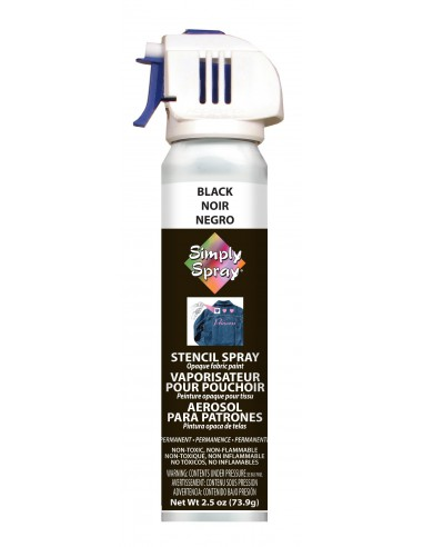 Simply Spray Stencil Paint Black (Negro)