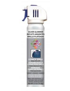 Simply Spray Stencil Paint Silver
